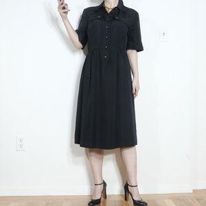 Tory Burch dress black 13 midi Large XL safari